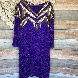 Milano 100% SILK Vintage Dress Plus Size 3x